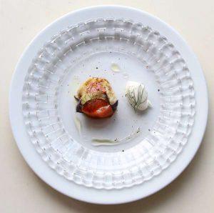 秋茄子とサーモン